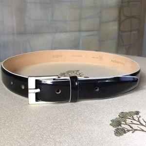 Calvin Klein Black Patent Leather Belt